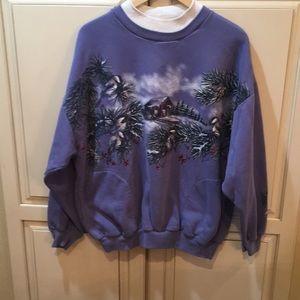 Vintage 80s 90s Christmas crewneck sweatshirt xl